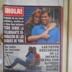 Collectionnisme de Magazine Hola: REVISTA HOLA MAGAZINE 1992.DUQUES DE YORK,SOFIA LOREN,NORMA DUVAL. Lote 52005178