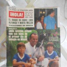 Coleccionismo de Revista Hola: REVISTA HOLA MAGAZINE 1984.JULIO IGLESIAS,MIRTA MILLER,LADY DIANA. Lote 52005735