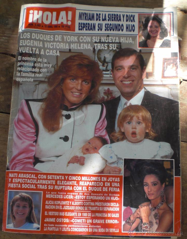 REVISTA HOLA N.2383 12 ABRIL 1990 (Coleccionismo - Revistas y Periódicos Modernos (a partir de 1.940) - Revista Hola)