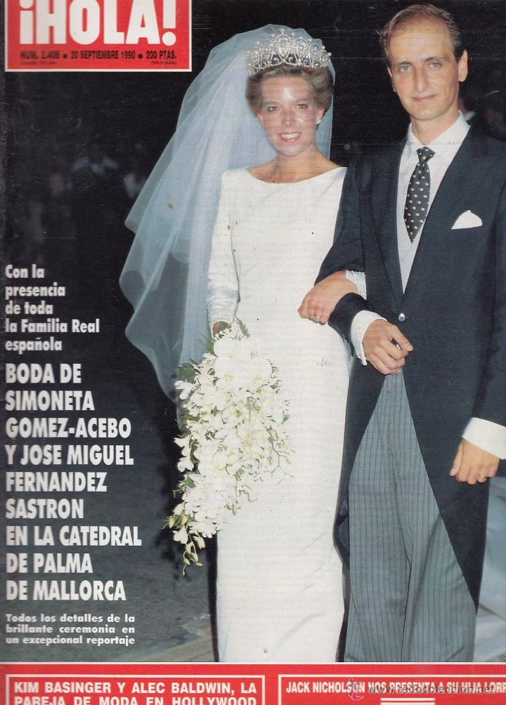 Revista Hola Nº 2406 Año 1990 Boda De Simoneta Sold Through Direct Sale 52749079