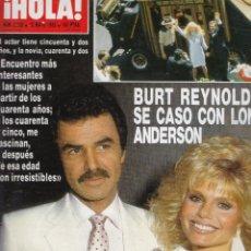 Coleccionismo de Revista Hola: REVISTA HOLA Nº 2282 AÑO 1988. BODA DE BURT REYNOLDS Y LONI ANDERSON. JULIO IGLESIAS. MIGUEL BOSE.. Lote 52779662