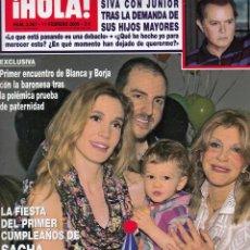 Coleccionismo de Revista Hola: REVISTA HOLA Nº 3367 AÑO 2009. JUNIOR. BLANCA Y BORJA. SACHA THYSSEN. PENELOPE CRUZ. LETIZIA.. Lote 52817301