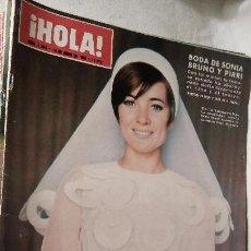 Coleccionismo de Revista Hola: REVISTA HOLA MAGAZINE Nº 1294 AÑO 1969 BODA DE SONIA BRUNO Y PIRRI LOT200. Lote 53064953