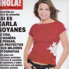 Coleccionismo de Revista Hola: REVISTA HOLA Nº 3140 AÑO 2004. CARLA GOYANES. BARONESA THYSSEN. ROCIO JURADO CON SU HIJO EN MIAMI.. Lote 53141673