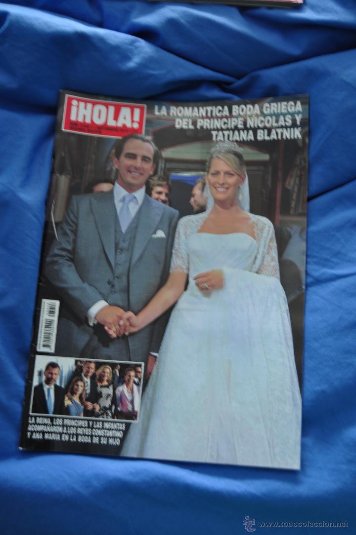 REVISTA HOLA - BODA REAL GRECIA - PRÍNCIPE NICOLÁS Y TATIANA (Coleccionismo - Revistas y Periódicos Modernos (a partir de 1.940) - Revista Hola)