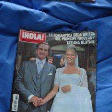 Coleccionismo de Revista Hola: REVISTA HOLA - BODA REAL GRECIA - PRÍNCIPE NICOLÁS Y TATIANA. Lote 53246885