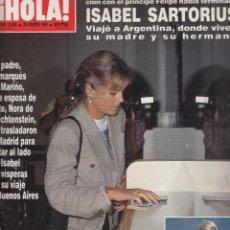 Coleccionismo de Revista Hola: REVISTA HOLA Nº 2455 AÑO 1991. ISABEL SARTORIUS. PRINCESA DIANA. JULIO IGLESIAS. GORBACHOV.. Lote 53254732