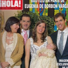 Coleccionismo de Revista Hola: REVISTA HOLA Nº 3260 AÑO 2007. BAUTIZO DE EUGENIA DE BORBON Y VARGAS. LARA DIBILDOS Y ESCASSI. . Lote 53388871