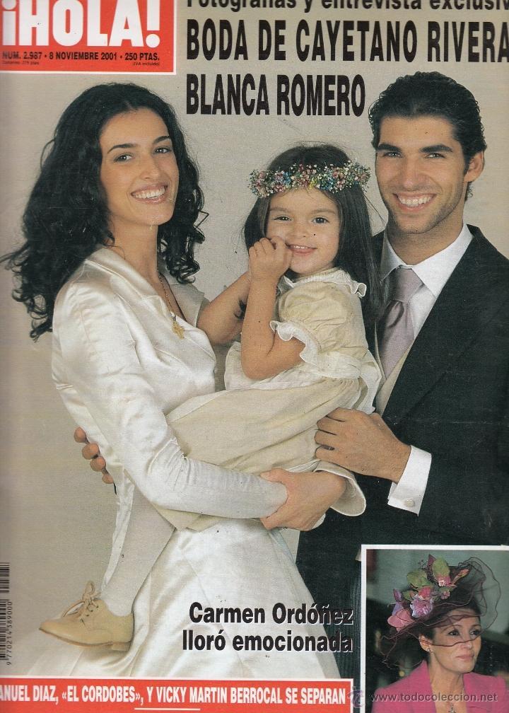 Revista hola n 2987 a o 2001 boda cayetano ri comprar for Blanca romero y cayetano rivera