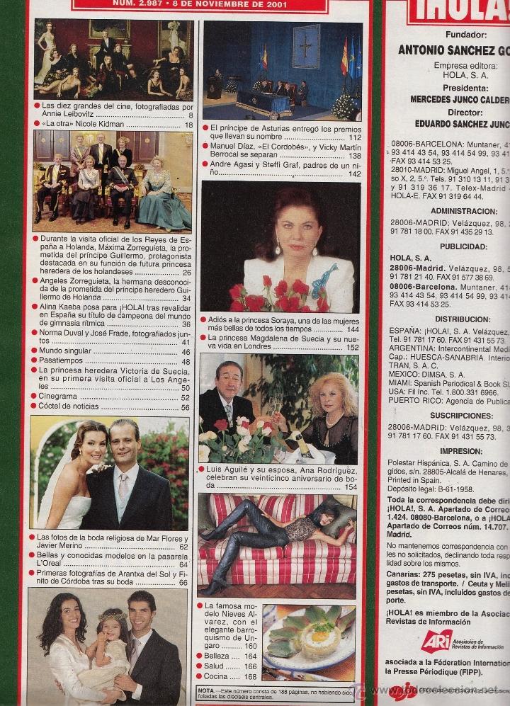 Revista hola n 2987 a o 2001 boda cayetano ri comprar for Cayetano rivera y blanca romero boda