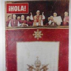 Coleccionismo de Revista Hola: 1963, REVISTA HOLA Nº 983. 29 DE JUNIO, EN PORTADA: LA PERSONALIDAD DEL CARDENAL MONTINI. Lote 53392590