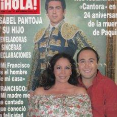 Coleccionismo de Revista Hola: REVISTA HOLA Nº 3346 AÑO 2008. ISABEL PANTOJA Y SU HIJO . . Lote 53435173
