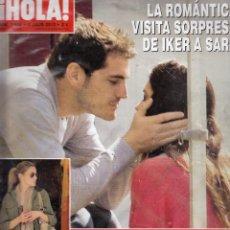 Collectionnisme de Magazine Hola: REVISTA HOLA Nº 3544 AÑO 2012. IKER CASILLAS Y SARA. LETIZA. NATY ABASCAL. ISABEL PREYSLER Y TAMARA.. Lote 53552872