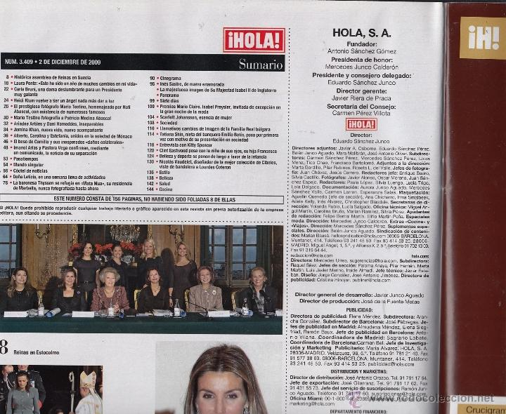 Coleccionismo de Revista Hola: REVISTA HOLA Nº 3409 AÑO 2009. PRINCIPES DE MONACAO. BARONESA THYSSEN. LETIZIA. INES SASTRE. - Foto 2 - 53553357