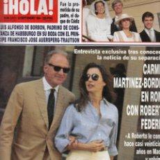 Coleccionismo de Revista Hola: REVISTA HOLA Nº 2615 AÑO 1994. BODA FRANCISCO JOSE AUERSPERG. ROBERTO FEDERICI. RAQUEL REVUELTA. . Lote 53620431