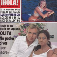 Coleccionismo de Revista Hola: REVISTA HOLA Nº 2612 AÑO 1994. ELLE MCPHERSON. LOLITA. BARONES THYSSEN. INFANTA ELENA. DOÑA PILAR.. Lote 53677613