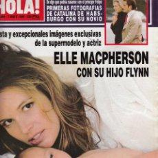 Collectionnisme de Magazine Hola: REVISTA HOLA Nº 2804 AÑO 1998. ELLE MACPHERSON CON SU HIJO. BODA EROS RAMAZZOTTI. VALERIA MAZZA.. Lote 53726857