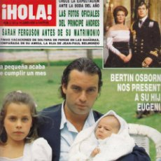 Coleccionismo de Revista Hola: REVISTA HOLA Nº 2182 AÑO 1986. PRINCIPE ANDRES Y SAHAH FERGUNSON. BERTIN OSBORNE. JULIO IGLESIAS. . Lote 53864323
