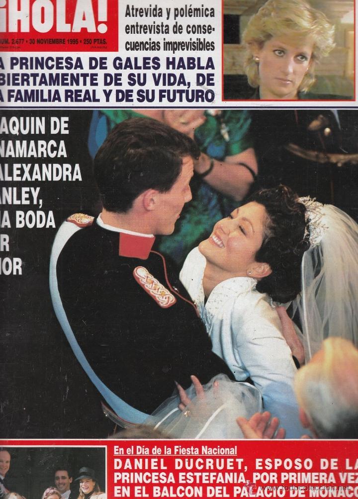 REVISTA HOLA Nº 2677 AÑO 1995. PRINCESA DE GALES. BODA JOAQUIN DE DINAMARCA Y ALEXANDRA MANLEY. (Coleccionismo - Revistas y Periódicos Modernos (a partir de 1.940) - Revista Hola)