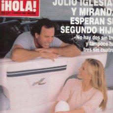 Coleccionismo de Revista Hola: REVISTA HOLA Nº 2817 AÑO 1998. JULIO IGLESIAS Y MIRANDA. ISABEL PANTOJA. STELLA DEL CARMEN. OBREGON.. Lote 54353822