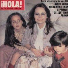 Coleccionismo de Revista Hola: REVISTA HOLA Nº 1801. ROCIO DURCAL. KABIR BEDI. MIA FARROW.. Lote 54387530
