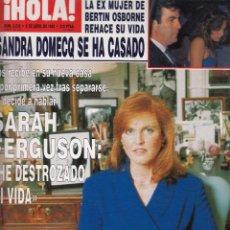 Coleccionismo de Revista Hola: REVISTA HOLA Nº 2539 AÑO 1993. BODA SANDRA DOMECQ. SARAH FERGUSON. TATIANA DE LIECHETENSTEIN. DIANA.. Lote 54433913