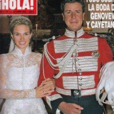 Coleccionismo de Revista Hola: REVISTA HOLA Nº 3195 AÑO 2005. BODA DE GENOVEVA Y CAYETANO. . Lote 54877867