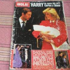 Coleccionismo de Revista Hola: REVISTA HOLA - NUMERO 2092 - 29 SEPTIEMBRE 1984 - HARRY NUEVO HIJO CARLOS Y DIANA, MIKI LAUDA...... Lote 54960109