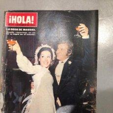 Coleccionismo de Revista Hola: REVISTA HOLA DEL 29 NOVIEMBRE DE 1969 NÚMERO 1318. BODA DE MASSIEL EN PORTADA.. Lote 56080540