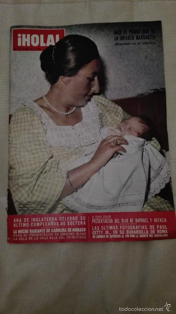 REVISTA HOLA 1973 INFANTA MARGARITA (Coleccionismo - Revistas y Periódicos Modernos (a partir de 1.940) - Revista Hola)