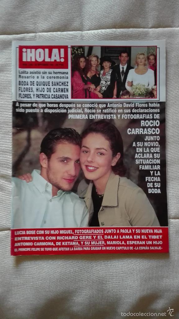 REVISTA HOLA 1995 ROCIITO,QUIQUE FLORES,LUCIA BOSÉ (Coleccionismo - Revistas y Periódicos Modernos (a partir de 1.940) - Revista Hola)
