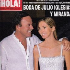Coleccionismo de Revista Hola: REVISTA HOLA Nº 3449 AÑO 2010. BODA DE JULIO IGLESIAS Y MIRANDA.. Lote 56428717