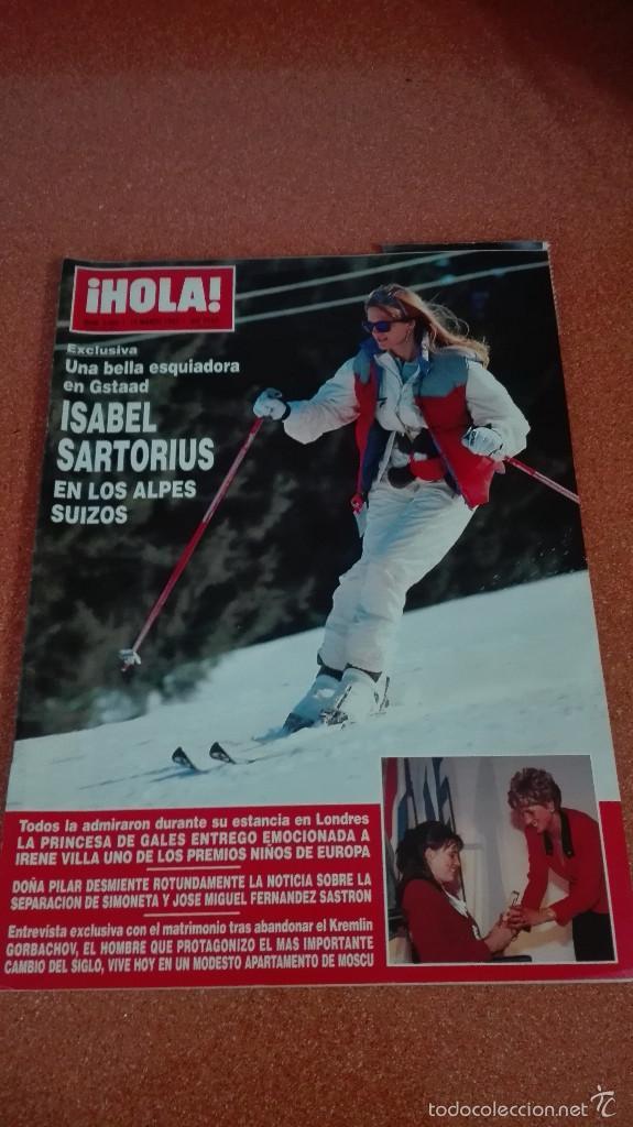 REVISTA HOLA 1992 SARTORIUS,STALLONE,VAITIARE,LUKE PERRY,PUBLI MARTA SANCHEZ MAGANGI JEANS (Coleccionismo - Revistas y Periódicos Modernos (a partir de 1.940) - Revista Hola)