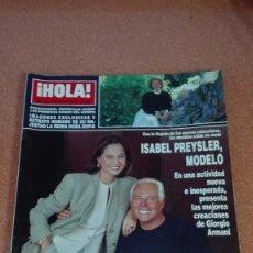 Coleccionismo de Revista Hola: REVISTA HOLA 1993 PREYSLER, ANA OBREGON Y ANTONIA DELLÁTTE (MEDIA PAGINA)LEQUIO(MEDIA PAGINA). Lote 56543572