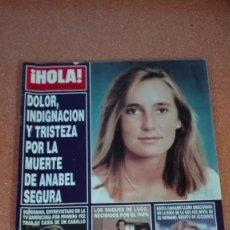 Coleccionismo de Revista Hola: REVISTA HOLA 1995 ANABEL SEGURA,SUPERMAN,. Lote 56661089