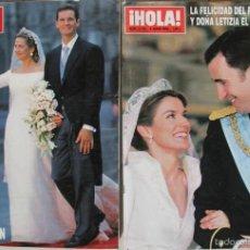 Coleccionismo de Revista Hola: REVISTA HOLA LA BODA DEL PRINCIPE FELIPE Y Dª LETIZIA - BODA DE LA INFANTA CRISTINA E IÑ. URDANGARIN. Lote 72800202