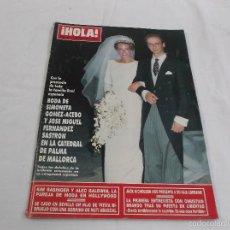 Coleccionismo de Revista Hola: HOLA Nº 2406: BODA DE SIMONETA GOMEZ ACEBO. KIM BASINGER Y ALEC BALDWIN. CHRISTIAN BRANDO. Lote 57495064