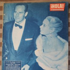 Coleccionismo de Revista Hola: REVISTA HOLA AÑO 1961 CHARLTON HESTON - BODA SECRETA DE LA PRINCESA ANTONIETA DE MONACO. Lote 61740466