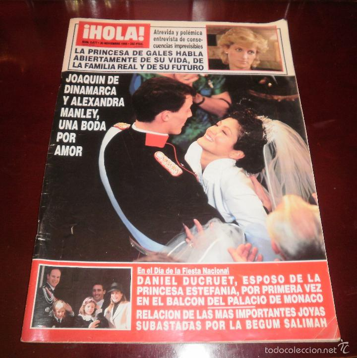 REVISTA DEL CORAZÓN. BODA REAL JOAQUÍN DE DINAMARCA. HOLA Nº 2677 30-11-1995. BUEN ESTADO (Coleccionismo - Revistas y Periódicos Modernos (a partir de 1.940) - Revista Hola)