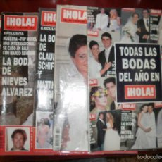 Coleccionismo de Revista Hola: REVISTAS DEL CORAZÓN. BODAS REVISTA HOLA, AÑO 2002. MÓNICA PONT, NIEVES ÁLVAREZ, SCHIFFER, JESULÍN. Lote 57565807