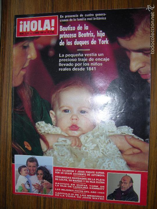 REVISTA HOLA Nº 2316 ( LAS MEJORES FOTOGRAFIAS DE 1988) (Coleccionismo - Revistas y Periódicos Modernos (a partir de 1.940) - Revista Hola)