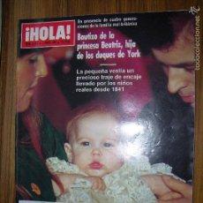 Coleccionismo de Revista Hola: REVISTA HOLA Nº 2316 ( LAS MEJORES FOTOGRAFIAS DE 1988). Lote 57836262