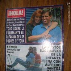 Coleccionismo de Revista Hola: REVISTA HOLA Nº 2486 ( AMPLIO REPORTAJE SOBRE LA INESPERADA SEPARACIÓN DE LOS DUQUES DE YORK). Lote 57911011