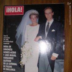 Coleccionismo de Revista Hola: LA50 HOLA Nº 2406 AÑO 1990. BODA DE SIMONETA GOMEZ-ACEBO Y JOSE MIGUEL FERNANDEZ,KIM BASINGER.. Lote 57911614