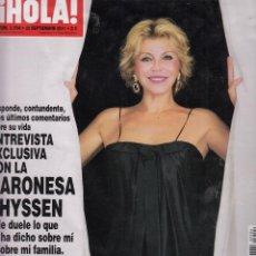 Coleccionismo de Revista Hola: REVISTA HOLA Nº 3504 AÑO 2011. BARONESA THYSSEN. HELEN LINDES. LETIZIA. THALIA, TOMMY MOTTOLA E HIJO. Lote 58326656