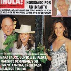 Coleccionismo de Revista Hola: REVISTA HOLA Nº 502 AÑO 2011. TAMARA FALCO, MARQUES DE GRIÑON Y XANDRA. FRANCISCO Y CAYETANO. . Lote 58326900