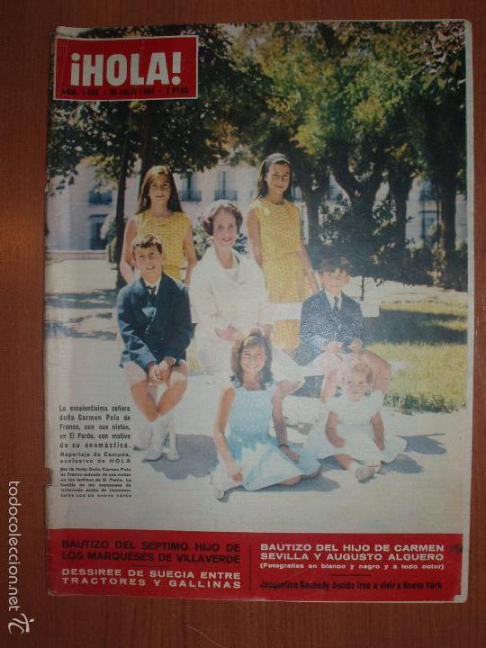 REVISTA ILUSTRADA HOLA. Nº 1039, AÑO 1964 BAUTIZO DEL HIJO DE MARQUESES DE VILLAVERDE... (Coleccionismo - Revistas y Periódicos Modernos (a partir de 1.940) - Revista Hola)