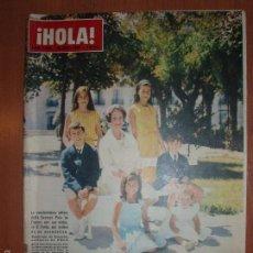 Coleccionismo de Revista Hola: REVISTA ILUSTRADA HOLA. Nº 1039, AÑO 1964 BAUTIZO DEL HIJO DE MARQUESES DE VILLAVERDE.... Lote 58412917