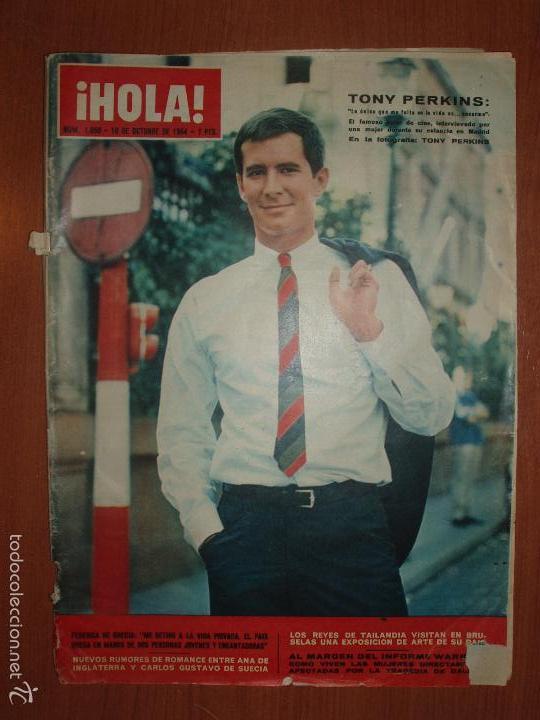REVISTA ILUSTRADA HOLA. Nº 1050, AÑO 1964 FEDERICA DE GRECIA, REYES DE TAILANDIA, TONI PERKINS... (Coleccionismo - Revistas y Periódicos Modernos (a partir de 1.940) - Revista Hola)