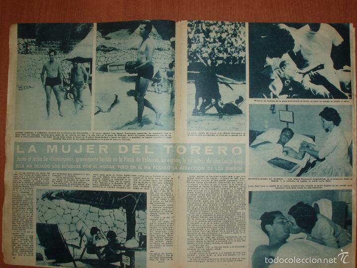 Coleccionismo de Revista Hola: REVISTA ILUSTRADA HOLA. Nº 780, AÑO 1959. LUIS MIGUEL DOMINGUIN, HERIDO POR UN TORO... - Foto 2 - 58413076